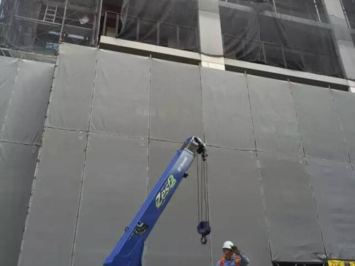 Sound Barriers For Temporary Fence In Construction Site